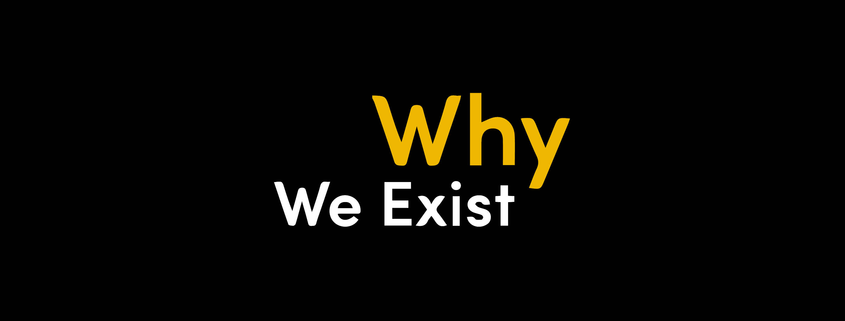 About Us - Why We Exist