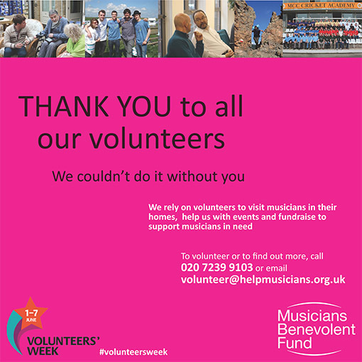 Help us to celebrate Volunteers' Week by getting involved