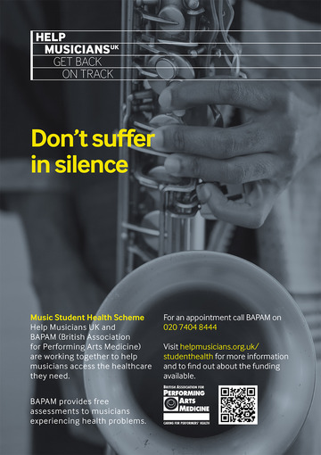 The Music Student Health Scheme is here to help