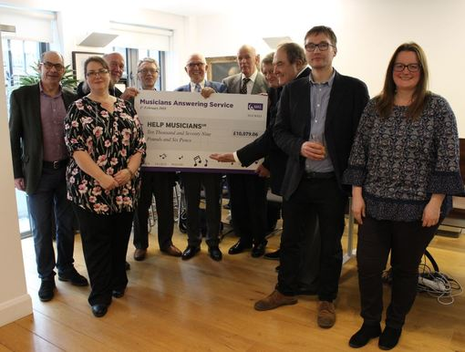 Musician's Answering Service raise over £10,000 for HMUK at their 40-year anniversary concert