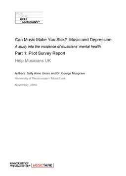 Can Music Make You Sick? Part 1: Pilot Survey Report