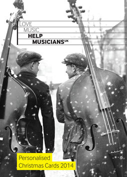 Help Musicians UK 2014 Personalised Christmas Cards